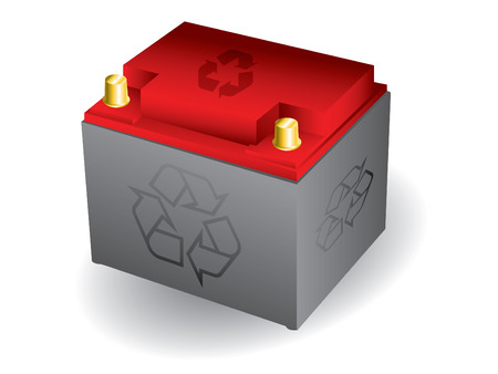 Wiederverwertbar Auto-Batterie Vektorgrafik