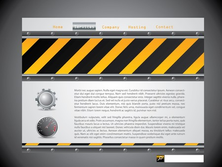 Warning sign website template with screws Stock Vector - 7101219