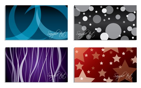 Various design business card set Vector