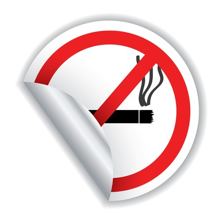 Don't smoke sticker with shadow Stock Vector - 7173590