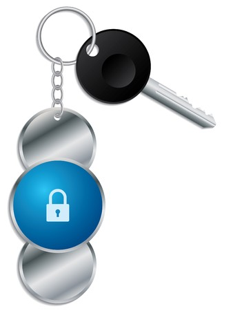 Padlock design keyholder with key Vector