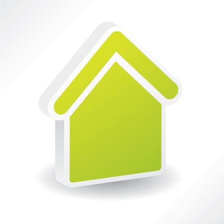 3d home  icon with shadow Stock Vector - 7173585