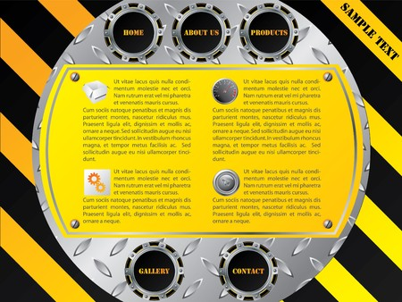 Cool technology website template design Stock Vector - 7173607