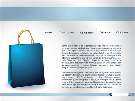 paperbag: Website template with blue paperbag