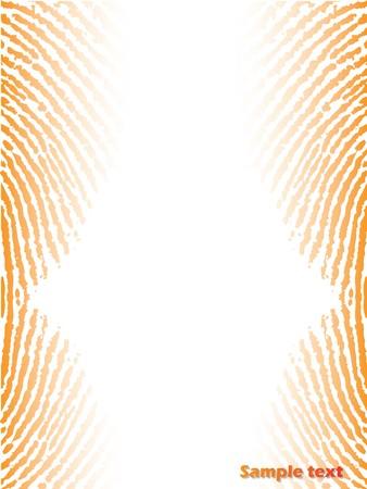 fingerprinted: Fingerprinted background with orange color