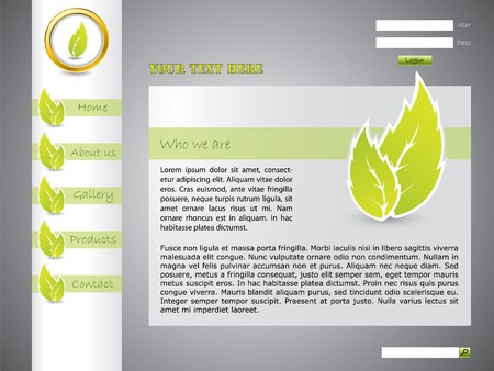 Ecological website template with green color photo
