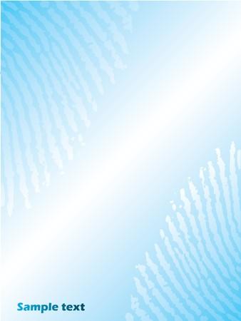 fingerprinted: Fingerprinted light blue brochure design