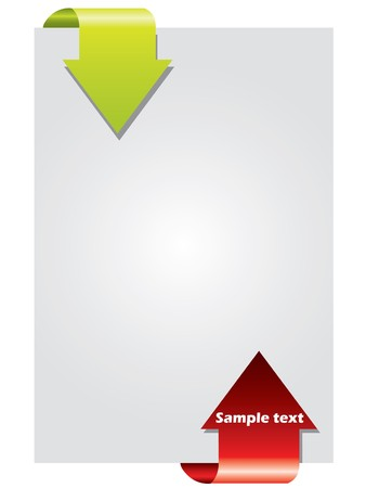 illustration promoting: Two way color arrow brochure