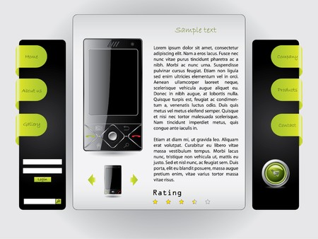 Buy a cell phone website template photo