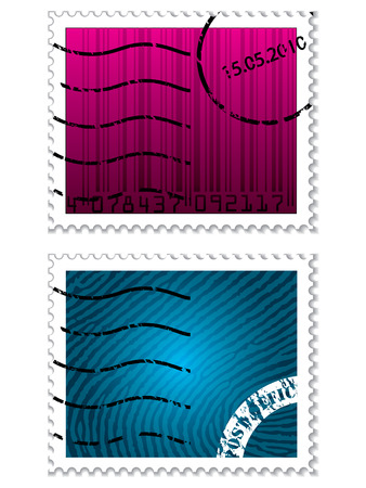 fingerprint card: Security stamps Illustration