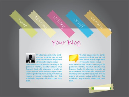 Website template with color tapes Stock Photo - 7317404