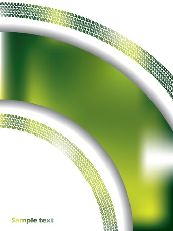 Abstract green background with tire track photo