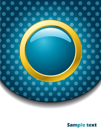 Dotted brochure with gold ring and button Stock Photo - 7406020