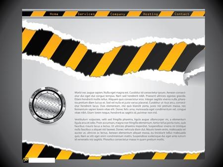 Torn construction website design template Stock Photo - 7406027