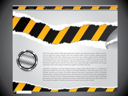 Torn construction website design template Stock Photo - 7406027
