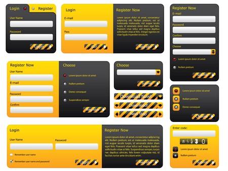 Warning and hazard website form set Stock Photo - 7406035