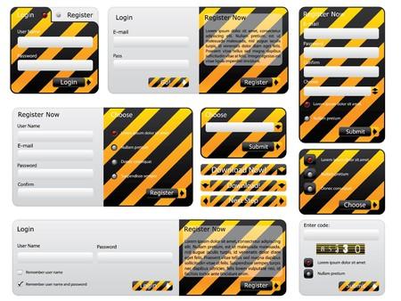 Warning and hazard website form set Stock Photo - 7406034