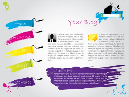 Cool painted website template design photo