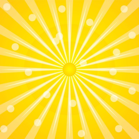 Sunshine background with rays and dots photo