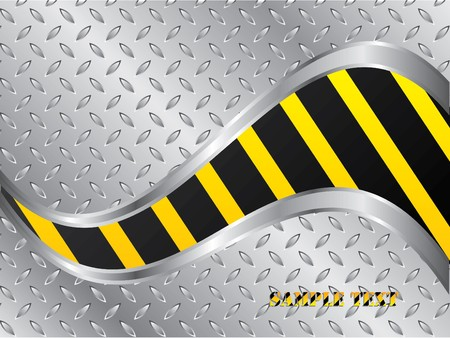 Steel plate background with wave Vector