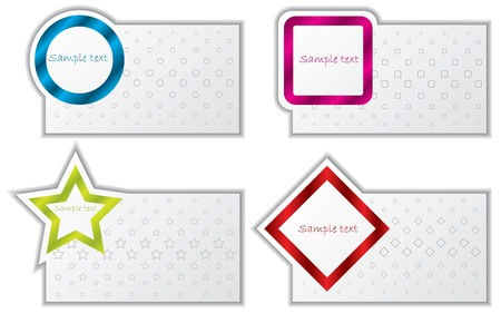 Abstract design business card set photo