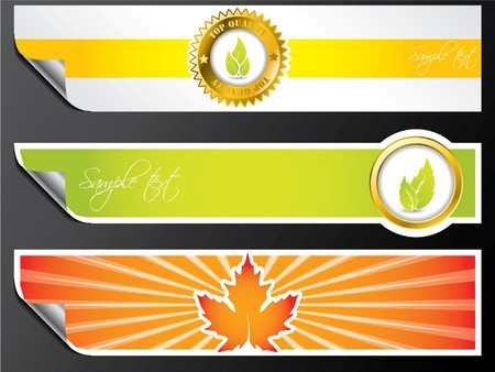 Various color eco banner set Stock Vector - 7614251