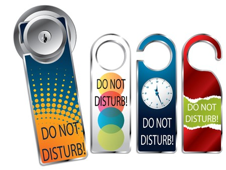 do not: Do not disturb label set
