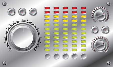 volume knob: Hi-fi set with LED equalizer Illustration