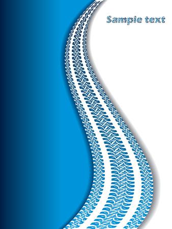huellas de neumaticos: Tel�n de fondo fresco con pistas de neum�tico