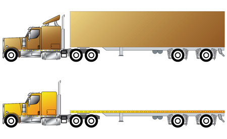 warehouse equipment: American conventional truck