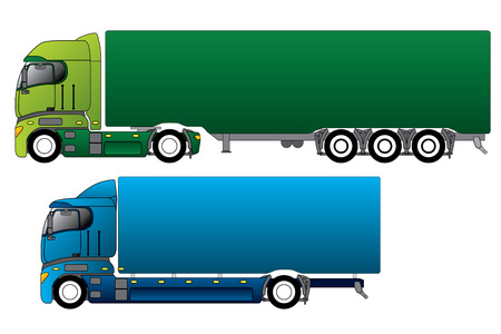 18 wheeler: Trucks Illustration
