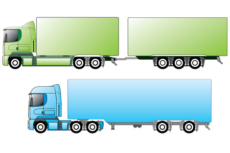 semitrailer: Truck double Illustration