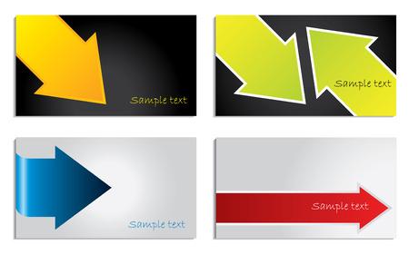 Arrowed business card Vector