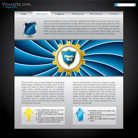 shielded: Shielded website template Illustration