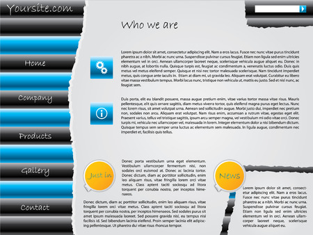 Ripped website design Vector