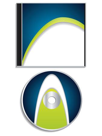 cd case: Cd azul y dise�o de la carcasa  Vectores
