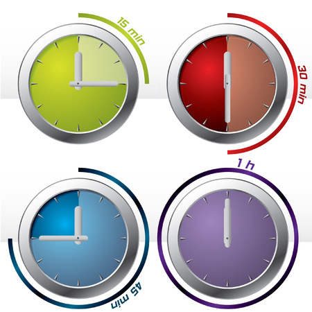 Set of 4 timers Stock Vector - 7828271