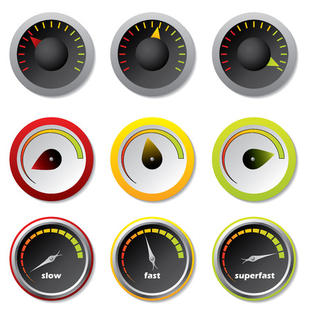 meter: Speedometers for downloads Illustration