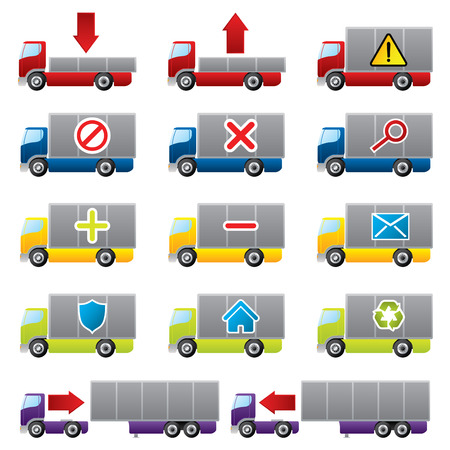 18 wheeler: Truck icons for the web