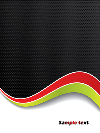 Color waves with black background Vector