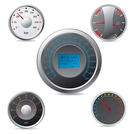 customize: Metallic gauges set