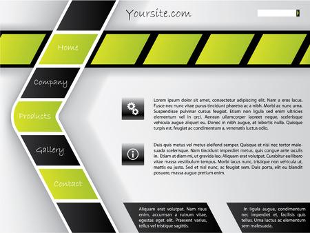 shaped: Arrow shaped button bar web template