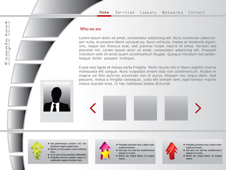 Arrow shaped button bar web template Stock Vector - 7865184