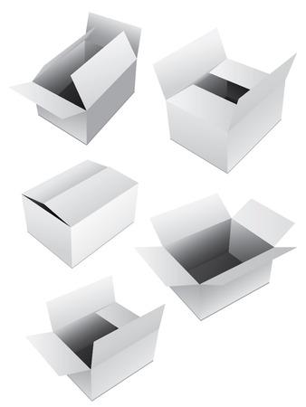 packer: New set of vector boxes Illustration