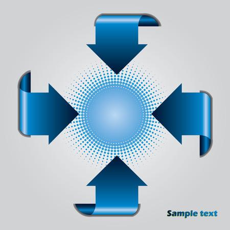 Blue arrow presentation brochure  Vector