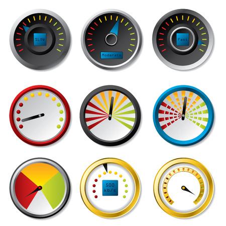 Speedometer set for downloads Vector