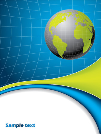 Abstract globe brochure Stock Vector - 7978418