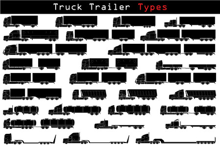 Truck trailer types Vector