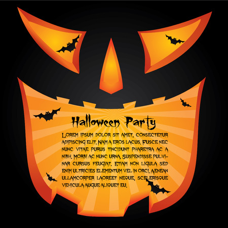 grinning: Halloween party card