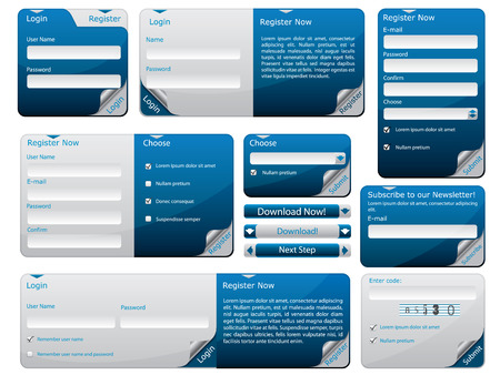 login: Sticky web form template